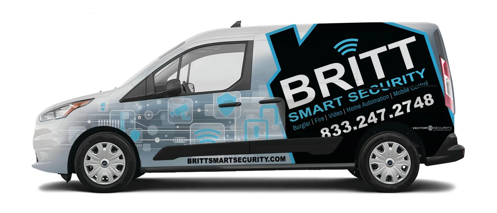 Britt Smart Security vehicle wrap.